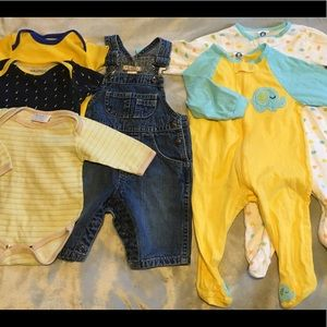 6 Piece Blue and Yellow Baby Lot